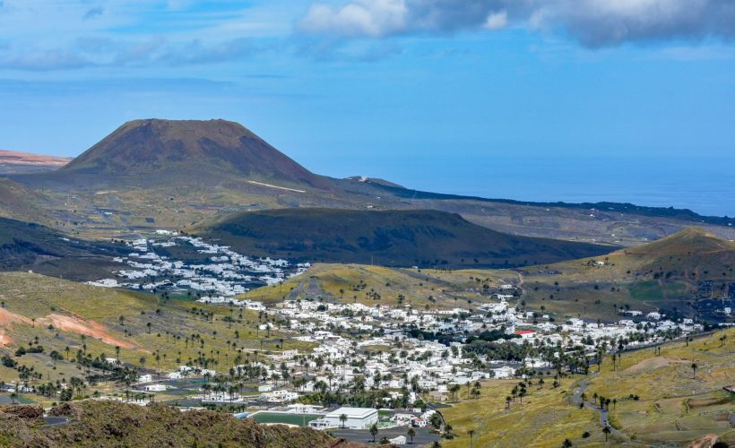 Amazing landscape of Haria valley (the valley of a thousand palms), Lanzarote island, Spain